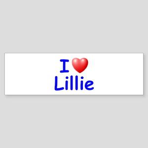 I Love Lillie (Blue) Bumper Sticker