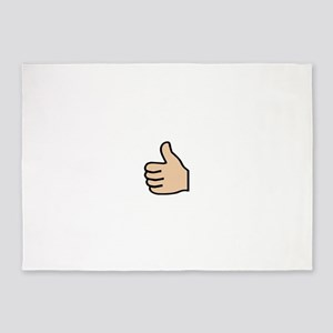 thumbs up 5'x7'Area Rug