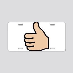 thumbs up Aluminum License Plate