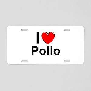 Pollo Aluminum License Plate