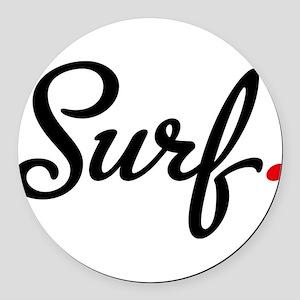surf Round Car Magnet