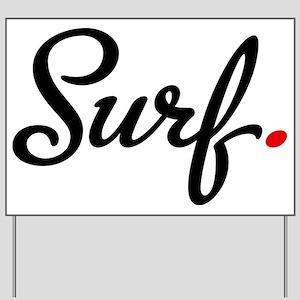 surf Yard Sign