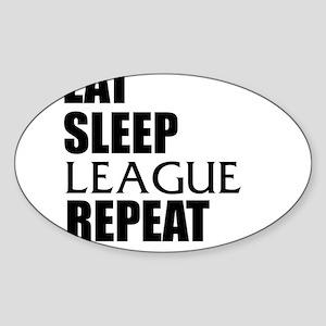 Eat Sleep League Repeat Sticker