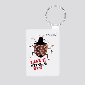 Love Stinks Aluminum Photo Keychain Keychains