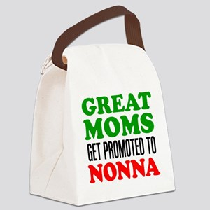 Promoted To Nonna Canvas Lunch Bag