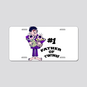 Father of Twins Aluminum License Plate
