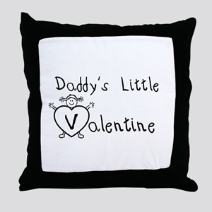 Daddy's Valentine (girl) Throw Pillow
