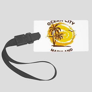 Summer ocean city- maryland Large Luggage Tag