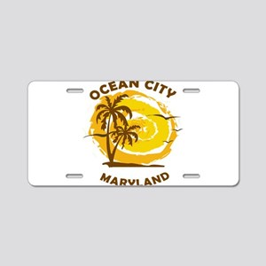 Summer ocean city- maryland Aluminum License Plate