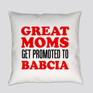 Promoted To Babcia Everyday Pillow
