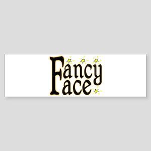 Fancy Face Bumper Sticker