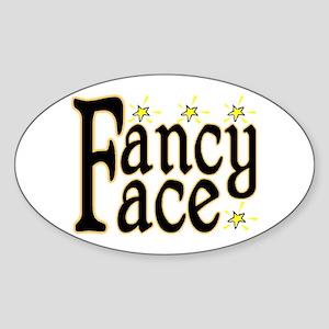 Fancy Face Oval Sticker