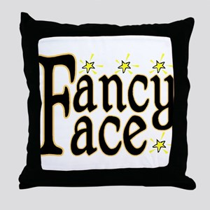 Fancy Face Throw Pillow