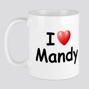 I Love Mandy (Black) Mug