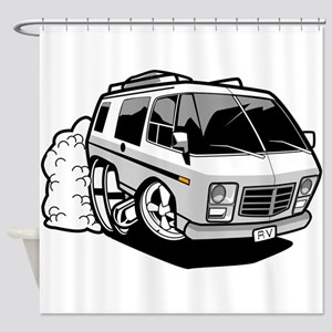 Space RV Shower Curtain
