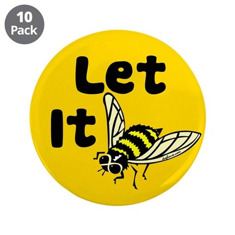 """Let it Bee 3.5"""" Button (10 pack)"""