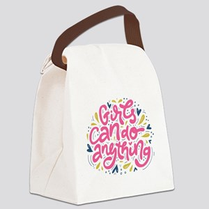GIRLS CAN DO ANYTHING Canvas Lunch Bag