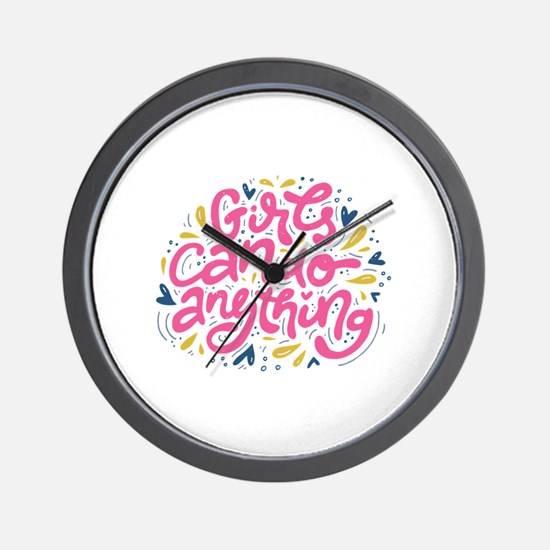 GIRLS CAN DO ANYTHING Wall Clock