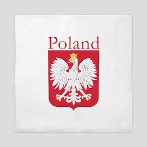 Poland White Eagle Queen Duvet
