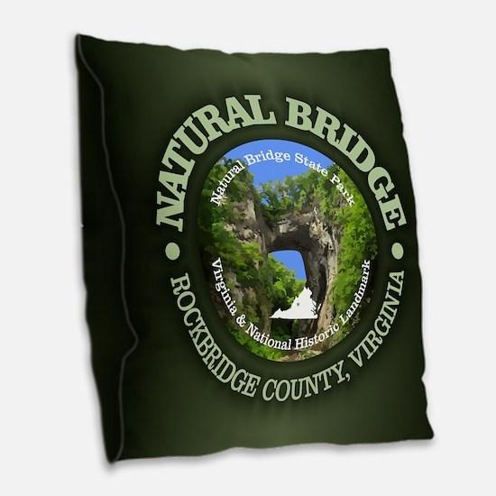Natural Bridge Burlap Throw Pillow