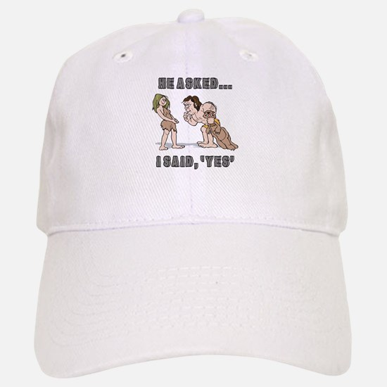 Funny Engagement Announcement Baseball Baseball Cap