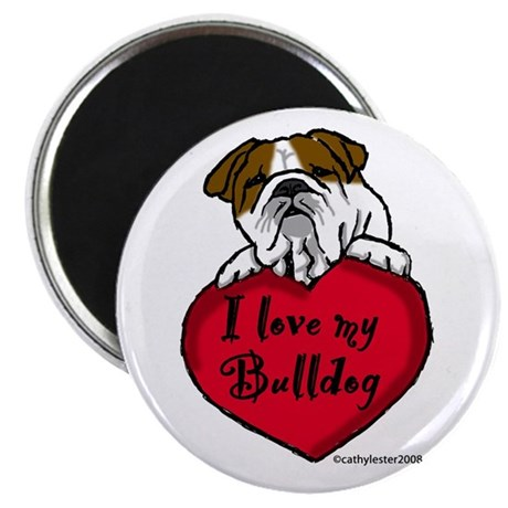 "I Love My Bulldog 2.25"" Magnet (10 pack)"