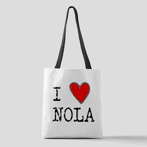I Love NOLA Polyester Tote Bag