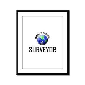 World's Coolest SURVEYOR Framed Panel Print