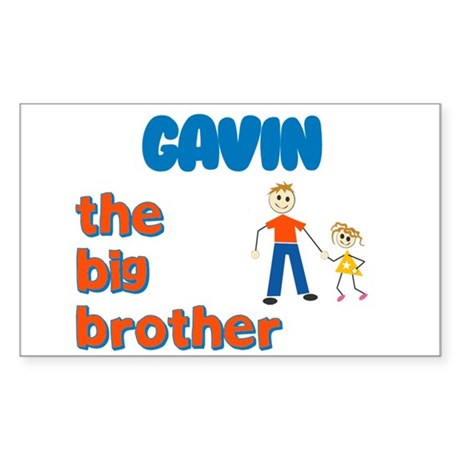 Gavin - The Big Brother Rectangle Sticker