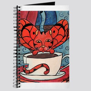 Fairy Cat with Tea Cup Journal