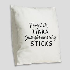 Tiara Drummer Burlap Throw Pillow