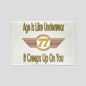Funny 77th Birthday Rectangle Magnet