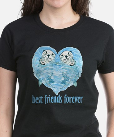 best friends forever Women's Dark T-Shirt