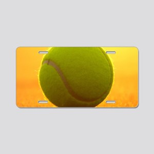 Tennis Ball Aluminum License Plate