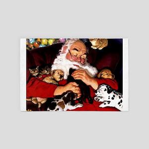 Santa Sleeping 4' x 6' Rug