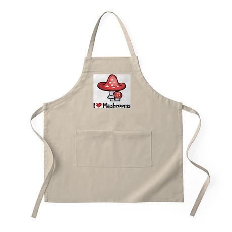 I Love Mushrooms BBQ Apron