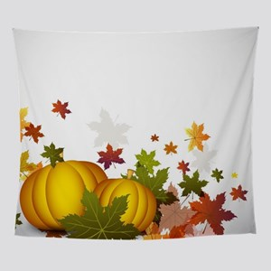 Thanksgiving Pumpkins Wall Tapestry