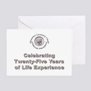 Quarter Century Greeting Cards