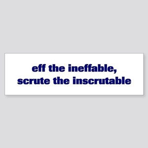 eff the ineffable bumper stickers cafepress
