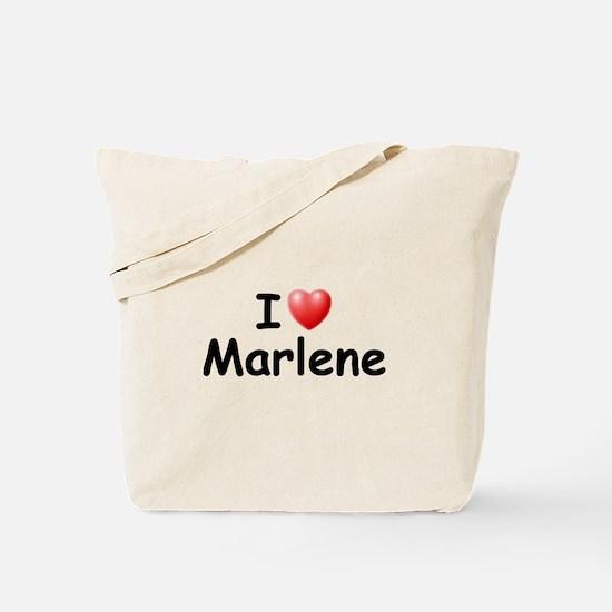 I Love Marlene (Black) Tote Bag