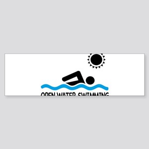 open water swimming Bumper Sticker
