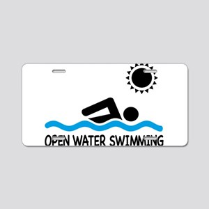 open water swimming Aluminum License Plate