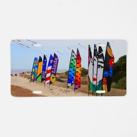 Kite festival flags Aluminum License Plate