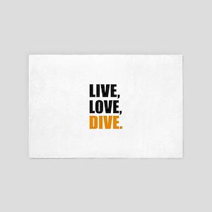 live love dive 4' x 6' Rug