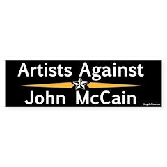 Artists Against John McCain bumper sticker
