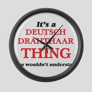 It's a Deutsch Drahthaar thin Large Wall Clock