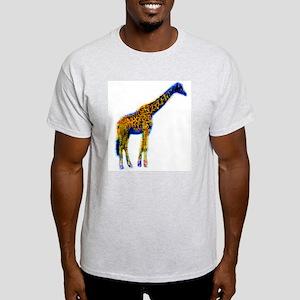 Pop Art Giraffe Ash Grey T-Shirt
