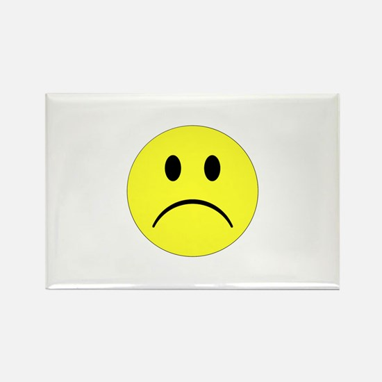 Sad Smiley Rectangle Magnet