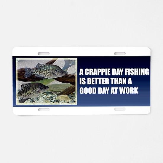 Crappie Fishing Aluminum License Plate