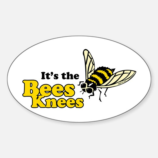 It's the Bees Knees Oval Decal